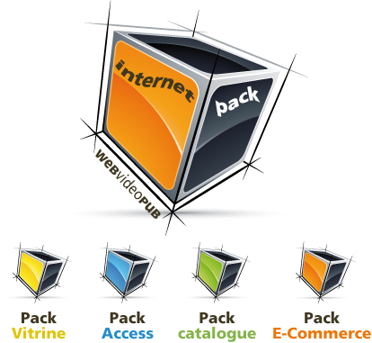 site internet pack vitrine - access - e-commerce - catalogue micronetup webvideopub